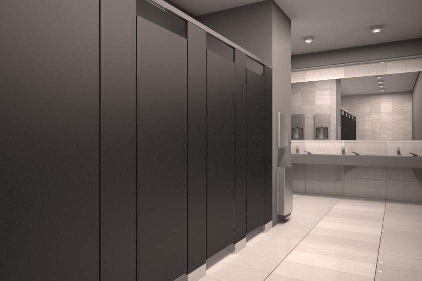 Filling A Gap Meeting Demand For Enhanced Restroom Privacy - Bobrick bathroom partitions