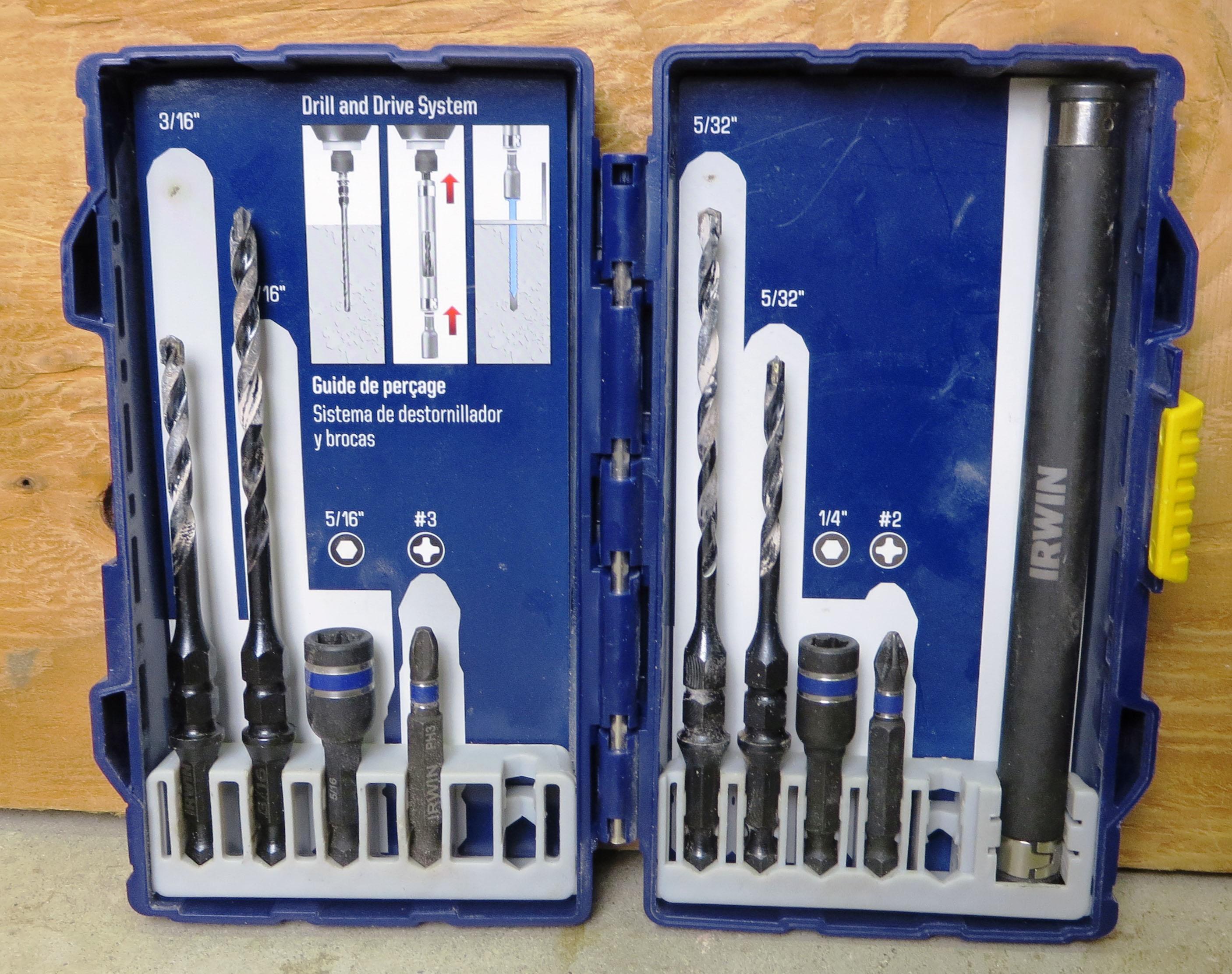 Irwin Tapcon Installation Drill Drive Set Tools Of The Trade