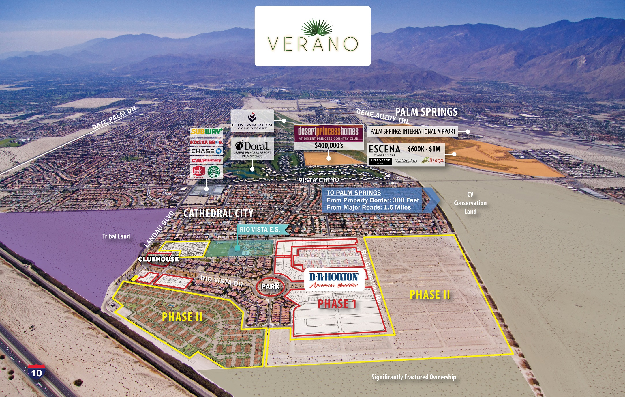 D R Horton Buys 329 Lots At Verano In Cathedral City