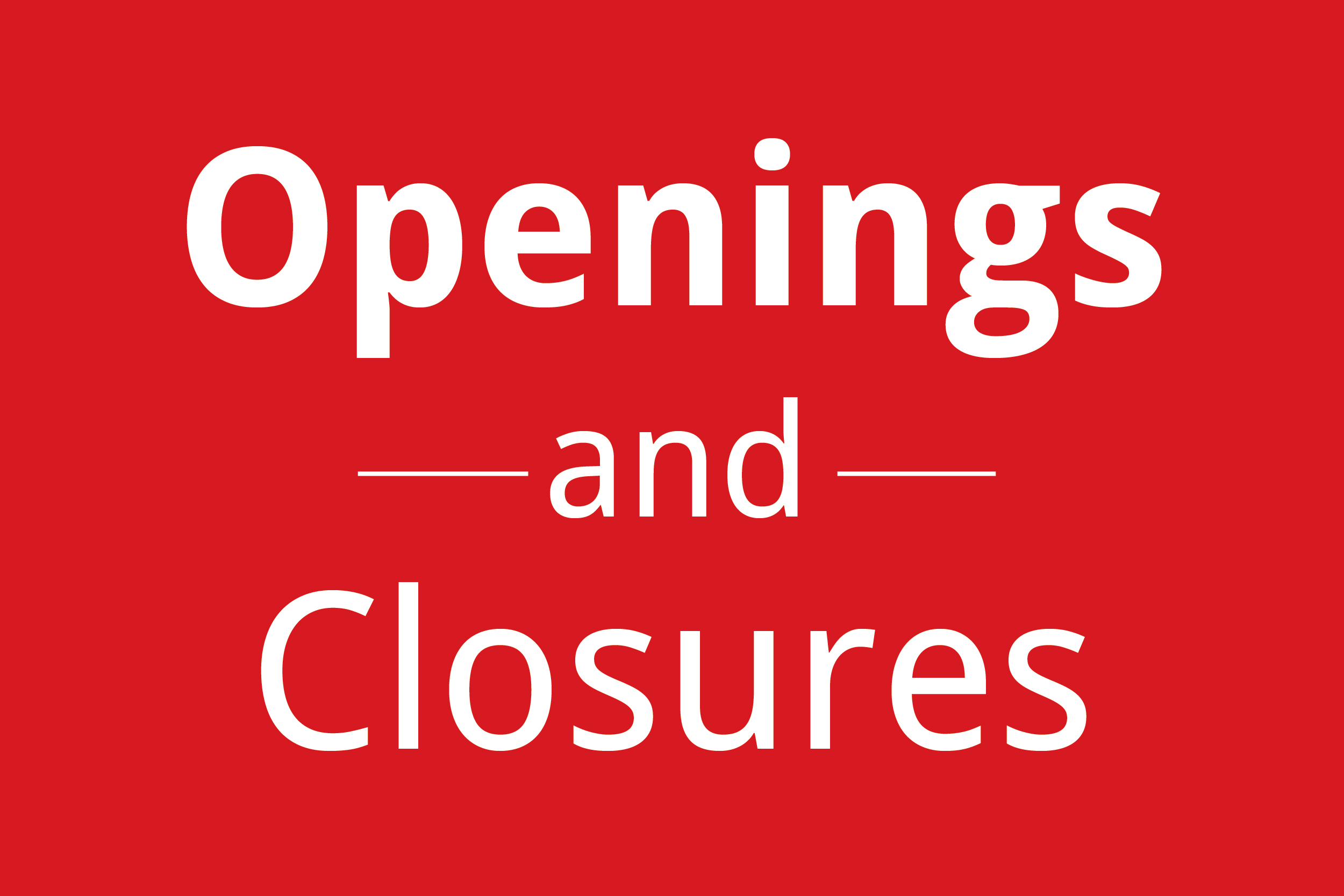 Q2 Openings Closures And Acquisitions Prosales Online
