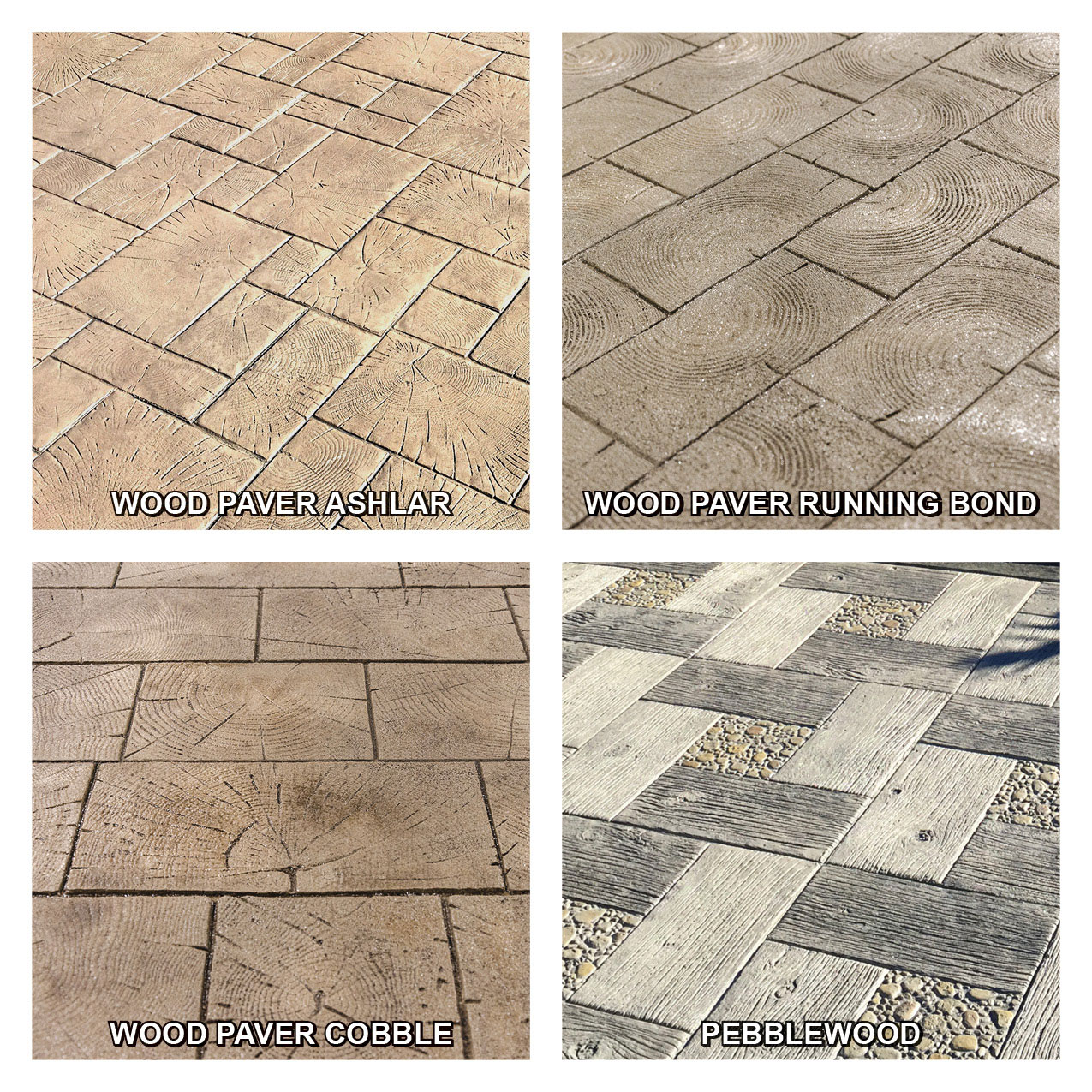 Stamped Concrete Wood Pattern Cool Inspiration Design