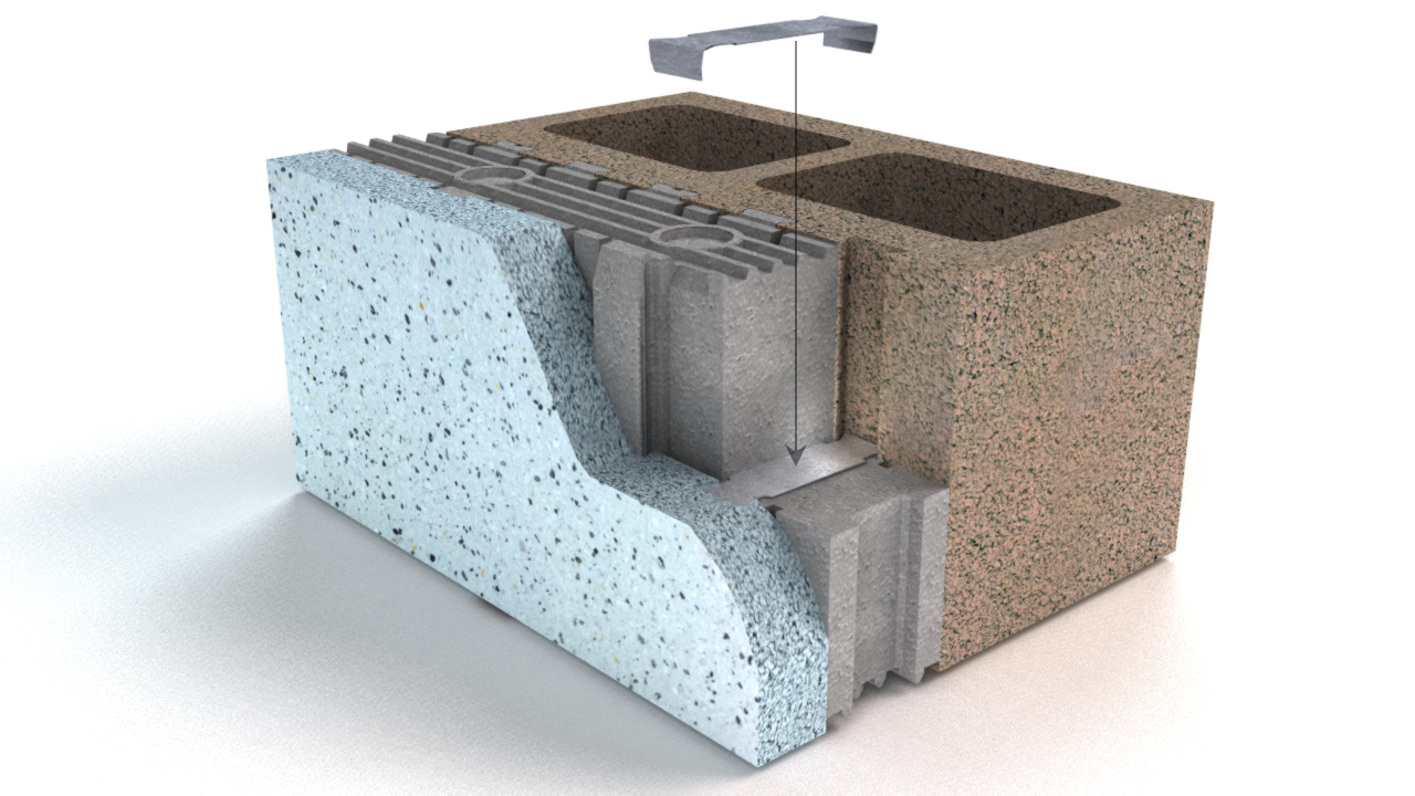 Oldcastle architectural insulated concrete masonry system Insulated block construction