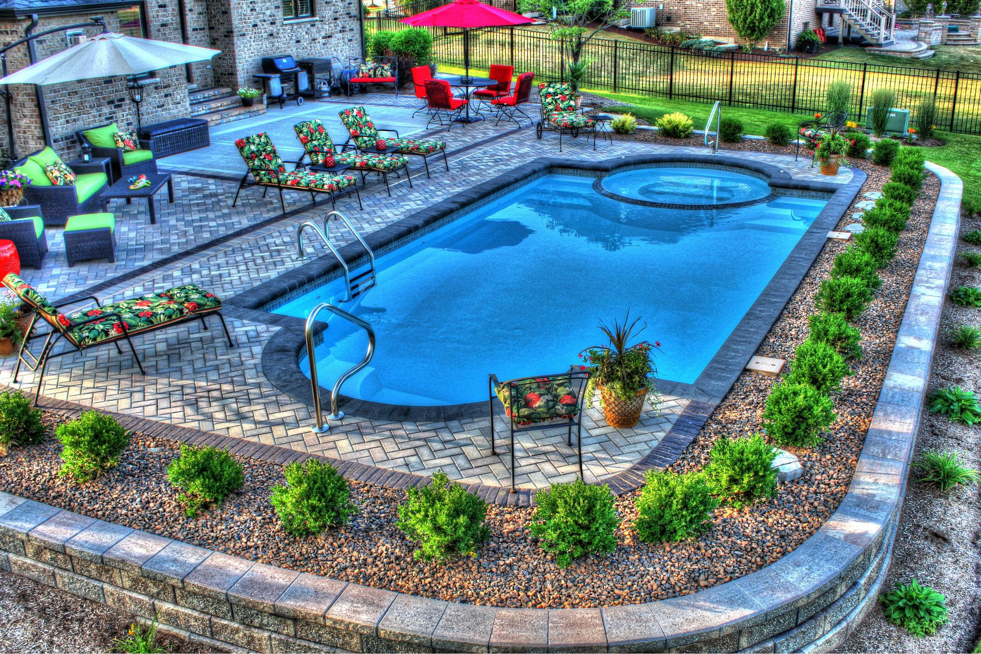 All Seasons Pools, Spas & Outdoor Living's Fiberglass Pool ... on Outdoor Living Pool And Spa id=80421