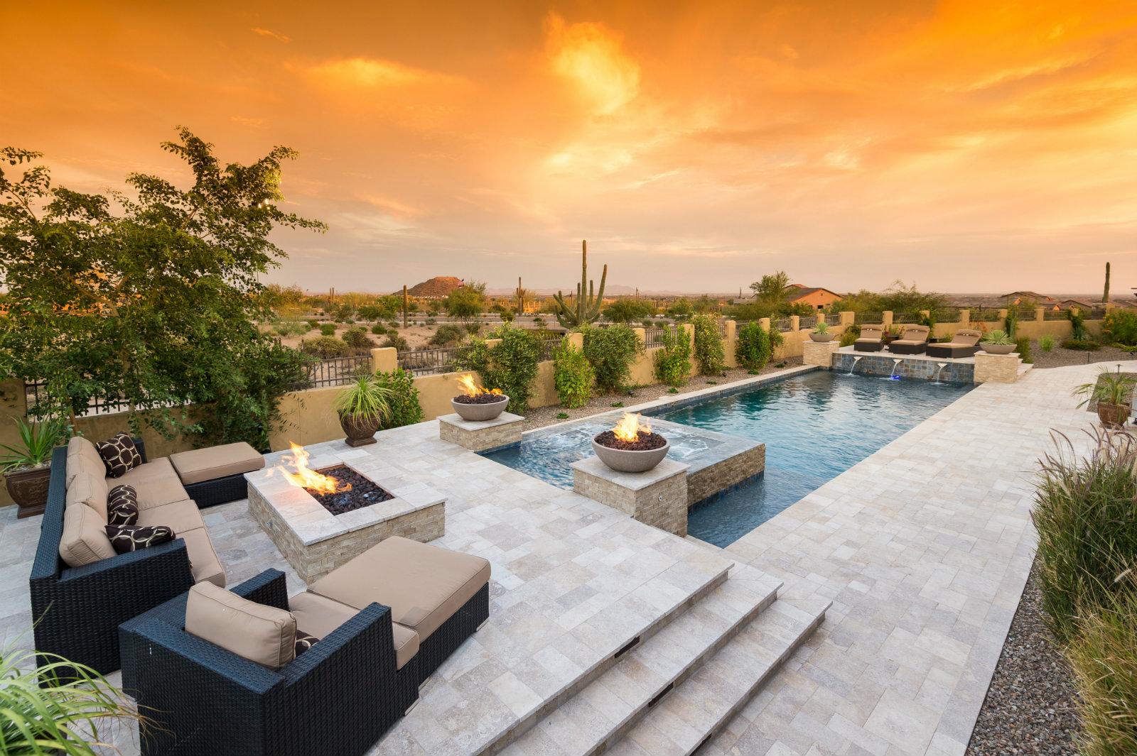 California pools landscape ranks third in customer for Pool builders in az