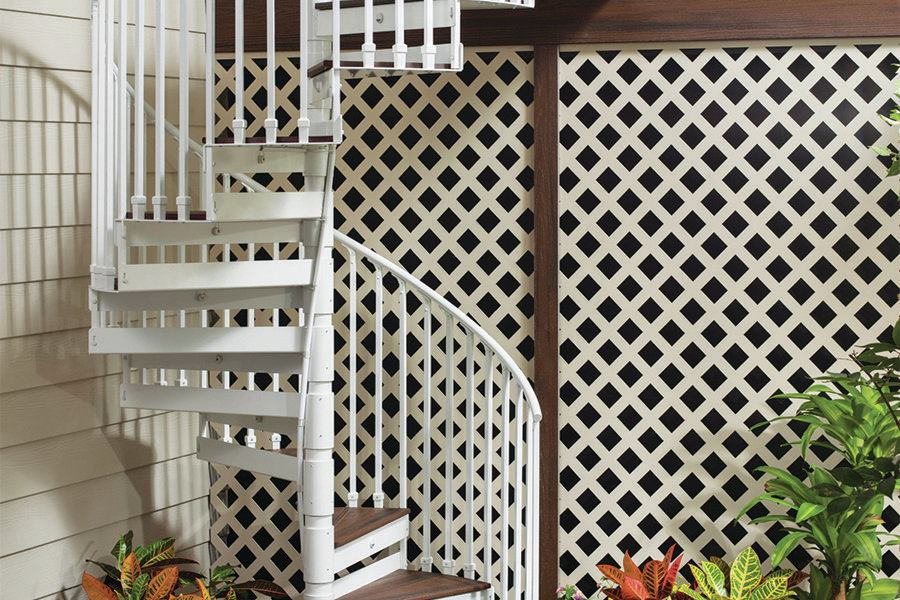 Trex Decking Colors >> Trex Spiral Stairs | Professional Deck Builder