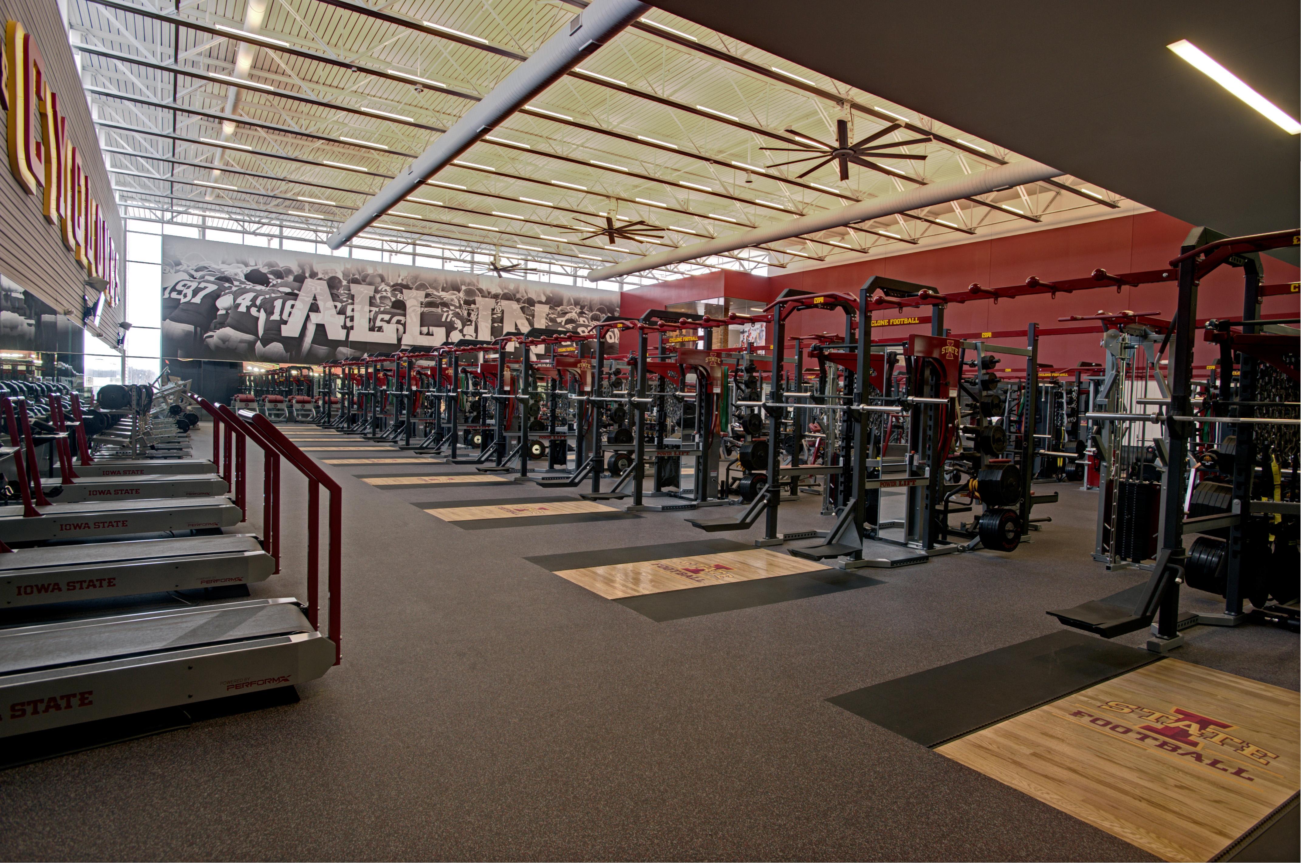 Iowa state university football weight room architect - Iowa state university interior design ...