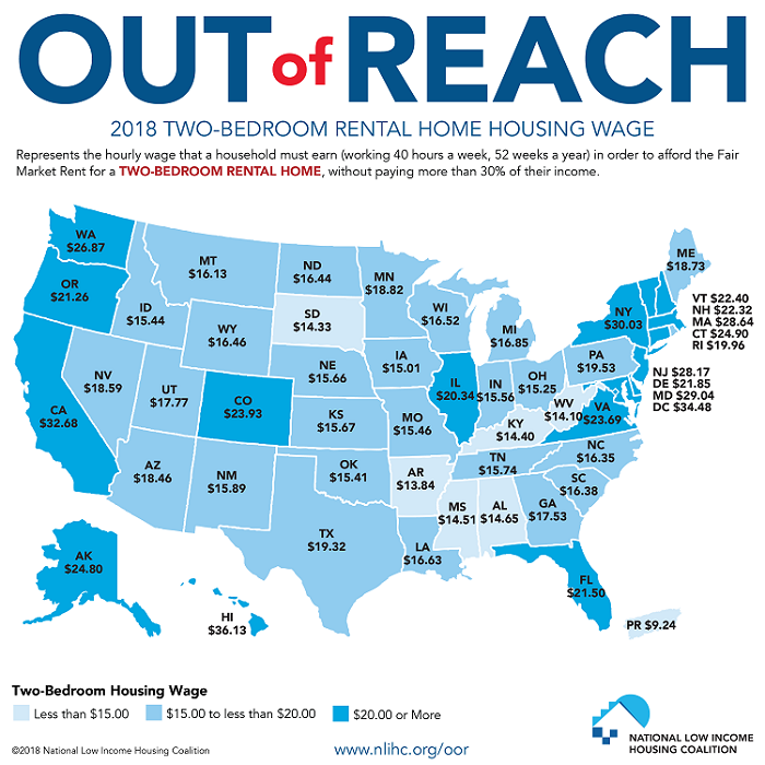 Apartment Rent Map: Housing Moves Further Out Of Reach Of Low-Wage Workers