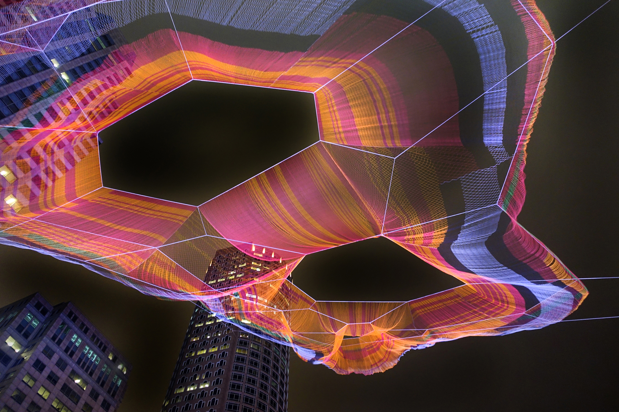 Janet Echelman Knits Together Boston S Urban Fabric