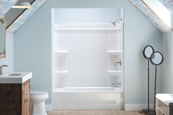 Sterling Offers A Caulk Free Shower Installation Remodeling