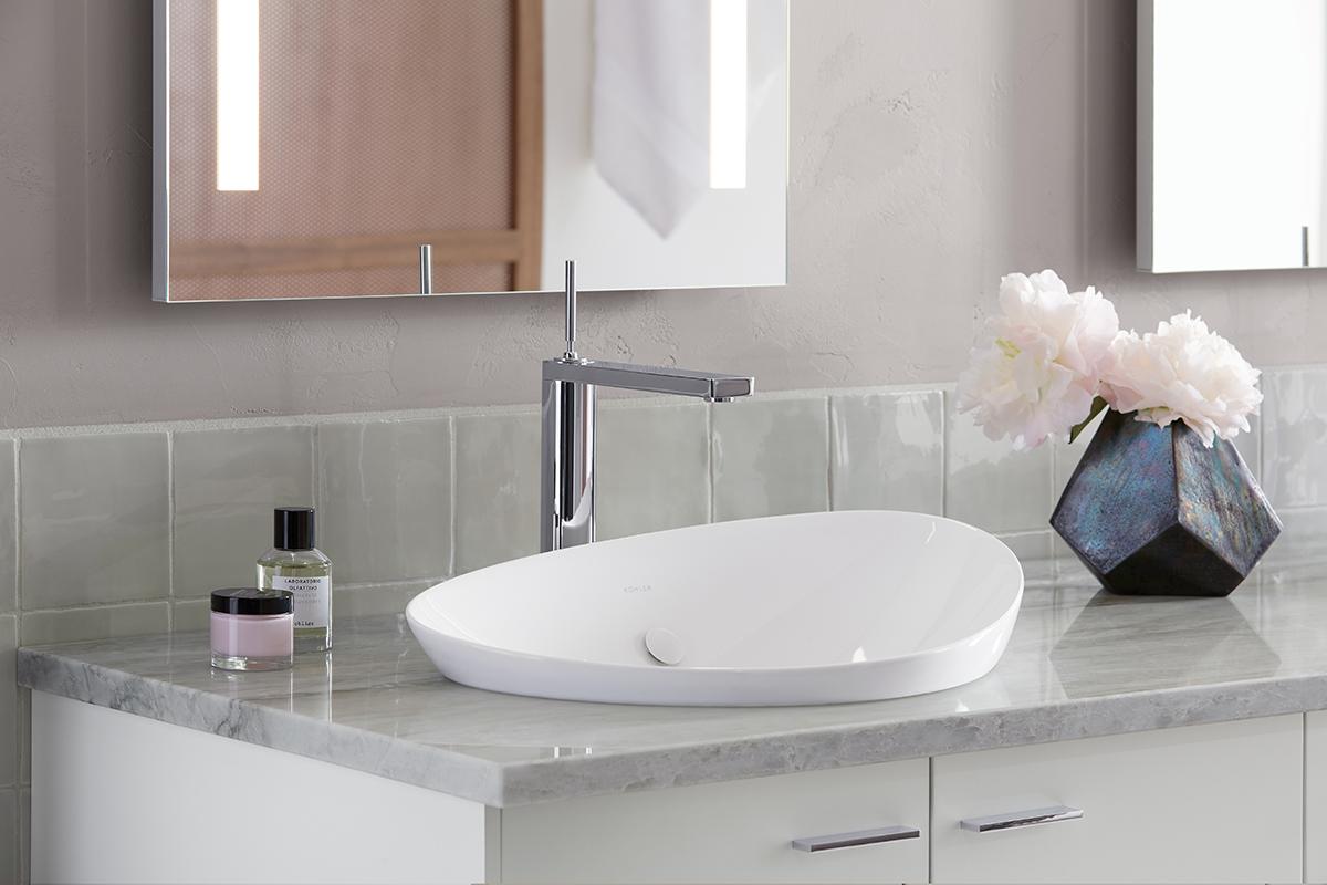 a minimalist bathroom sinkkohler  architect magazine