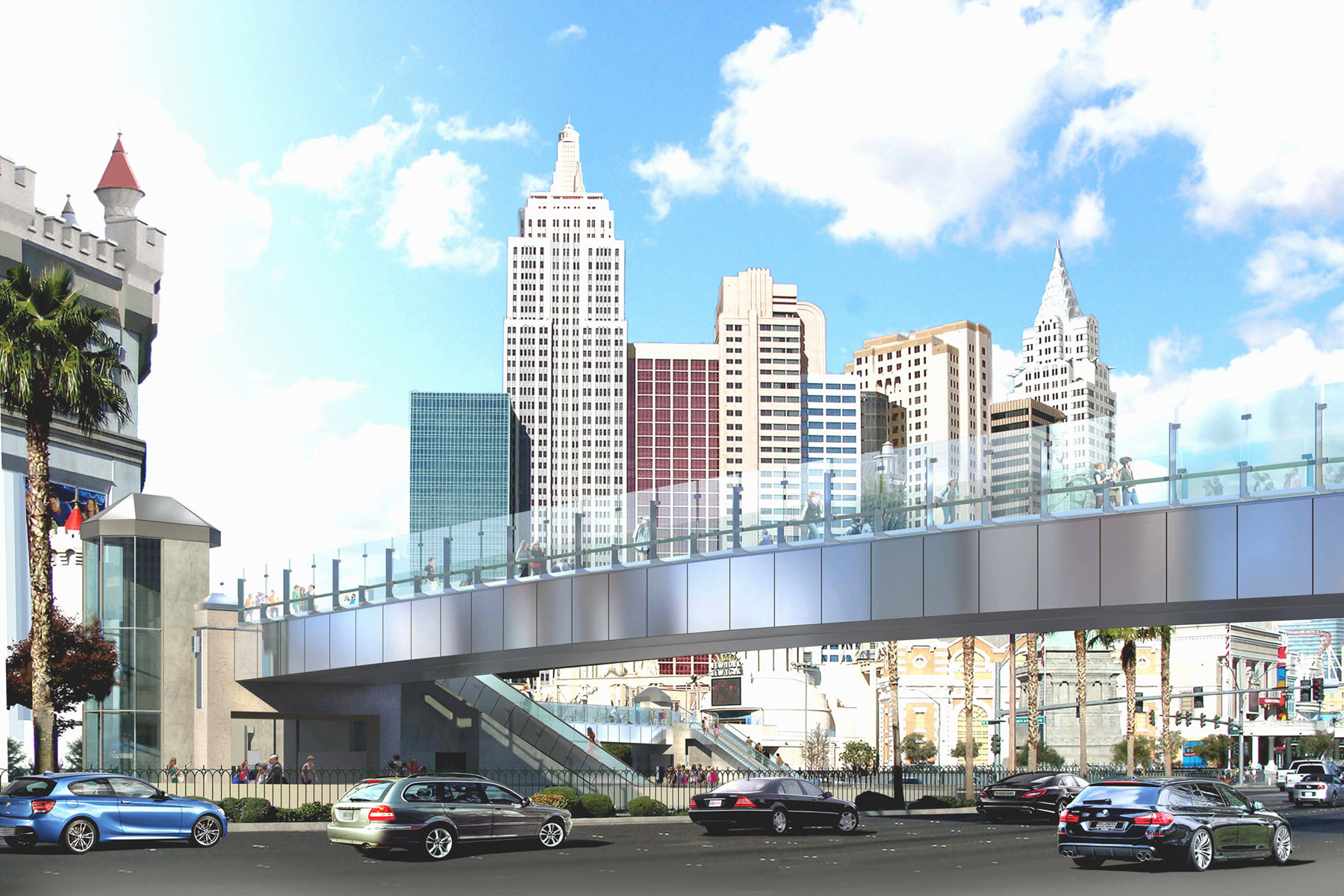 New Pedestrian Bridges Open In Vegas Just In Time For