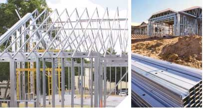 Structural Steel Framing And Precast Concrete Panels