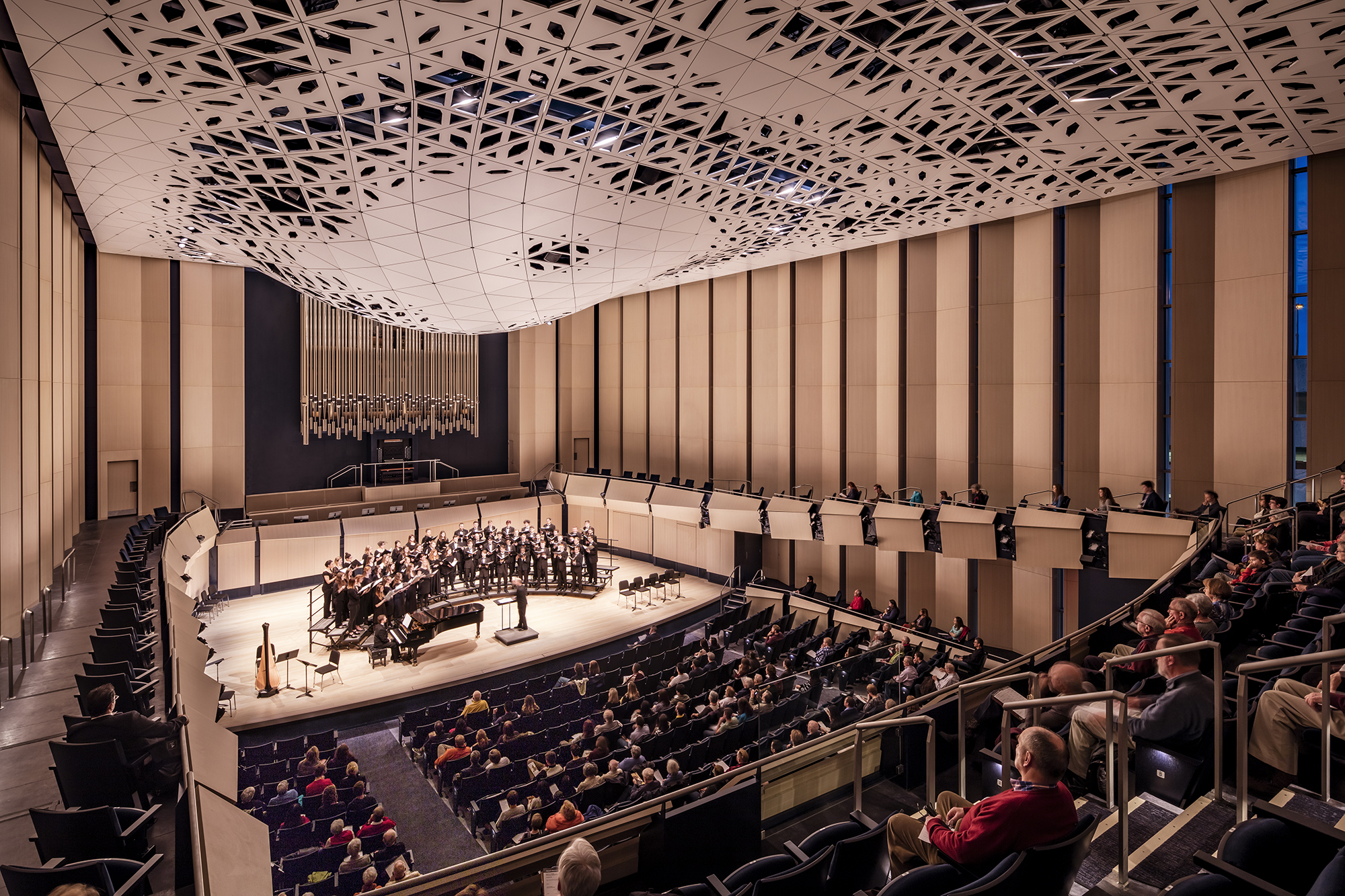 University Of Iowa Voxman Music Building S Theatroacoustic