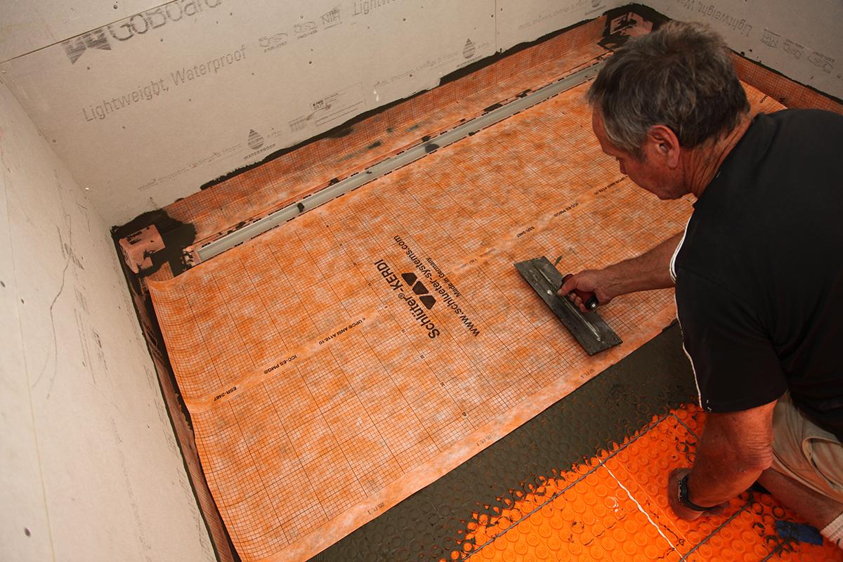 Tiling A Walk In Shower Chapter 3 Waterproofing The Floor Jlc Online