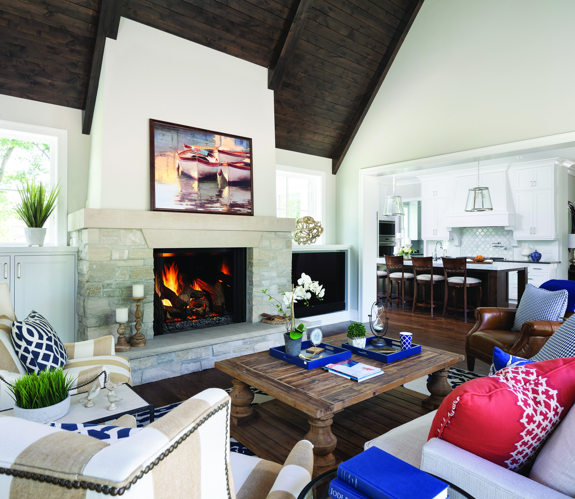 Gas Fireplace Without A Glass Front
