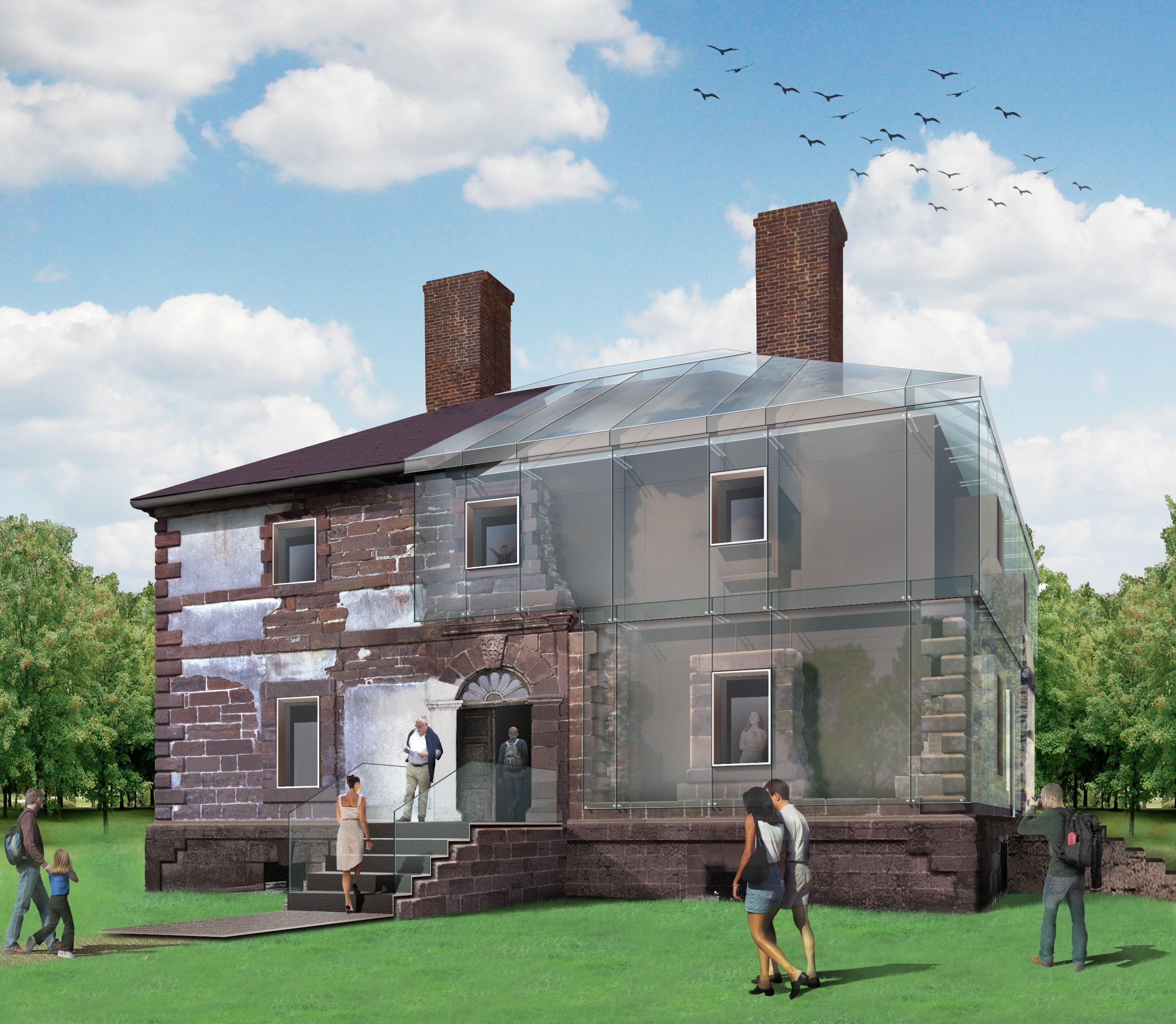 Machado And Silvetti To Encase Historic Menokin House In