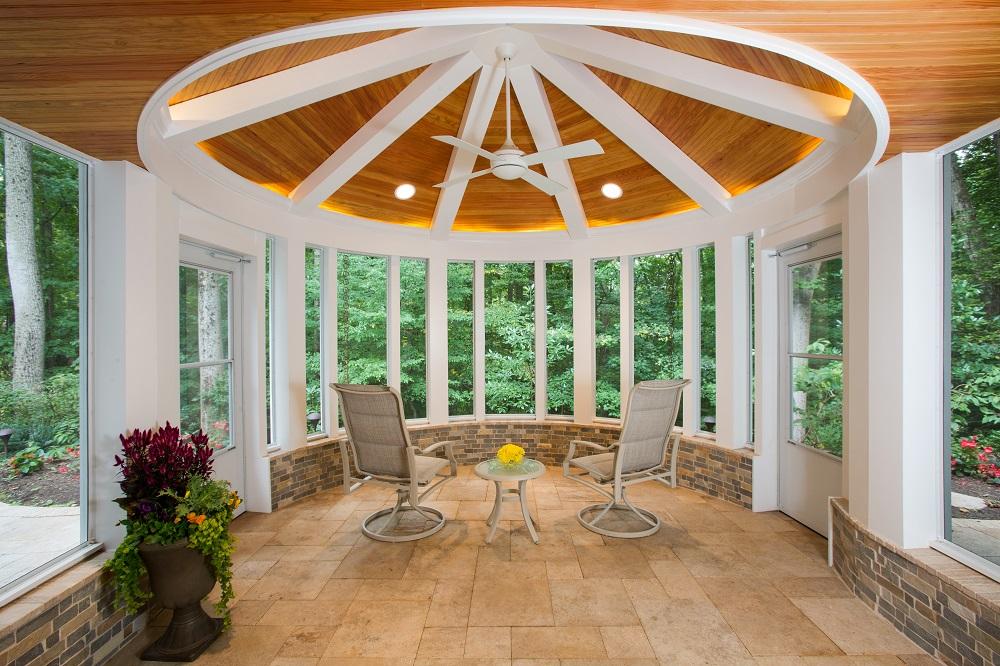 A Circular Screened Porch Professional Deck Builder