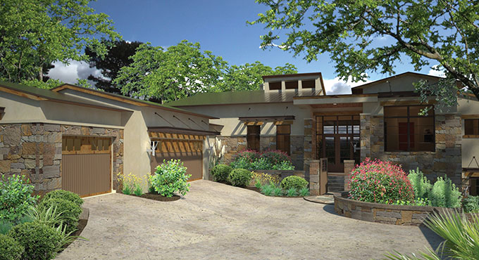 Four house plans with modern style and serious curb appeal for Modern home builder magazine
