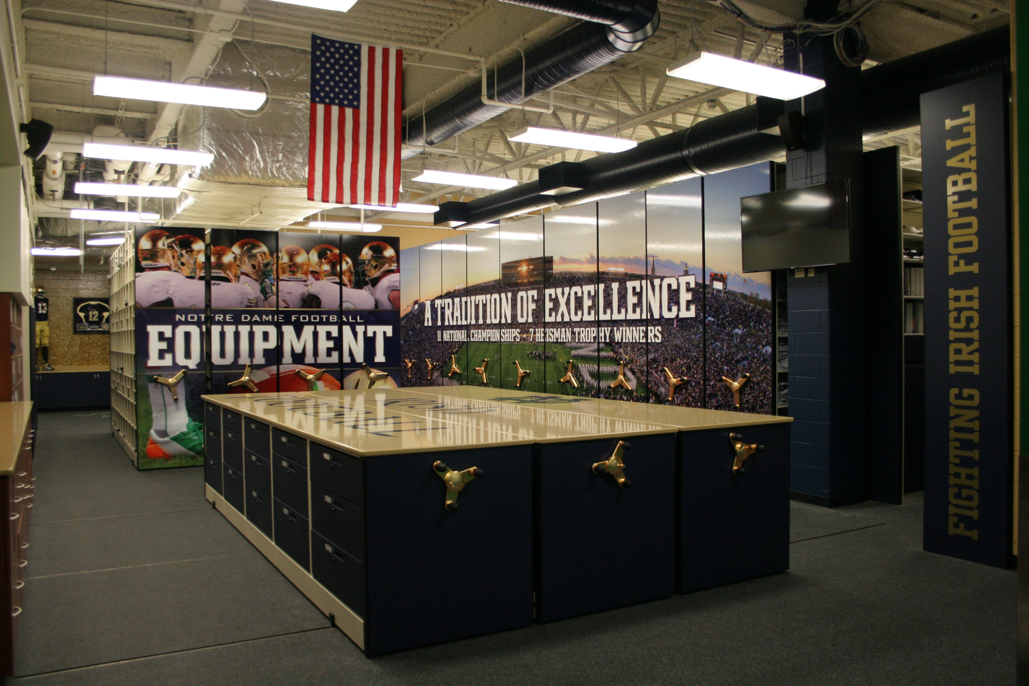 University Notre Dame Equipment Room Architect Magazine South Bend Usa Commercial