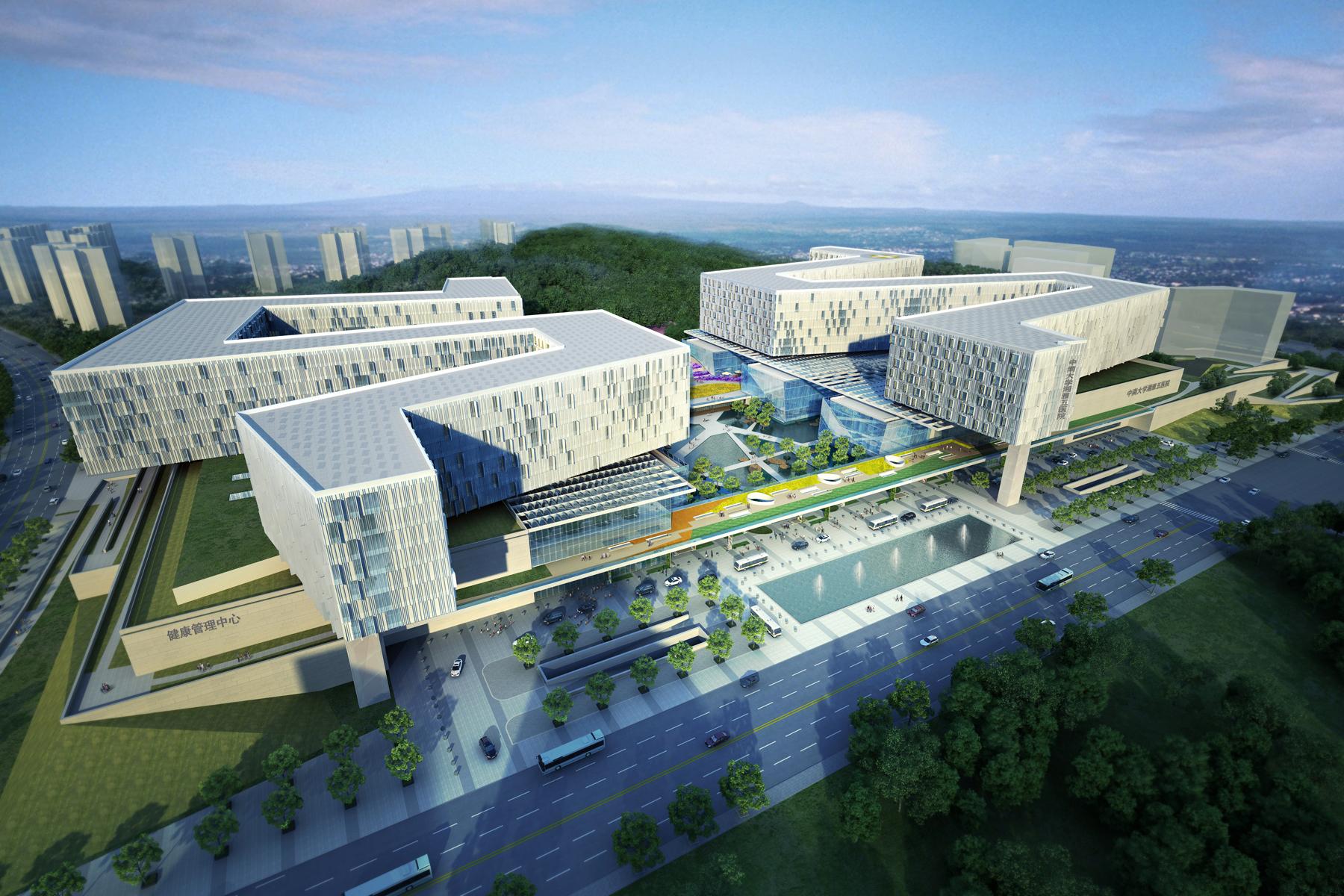 N Single Home Elevation : Fifth xiangya hospital architect magazine payette