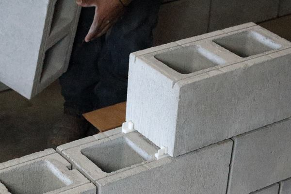 Experts choice concrete block spacer concrete for Insulated block construction