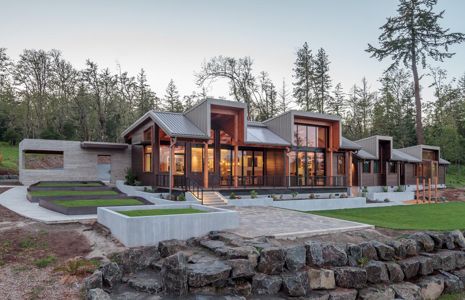 Timberidge architect magazine 2form architecture for Residential architects eugene oregon