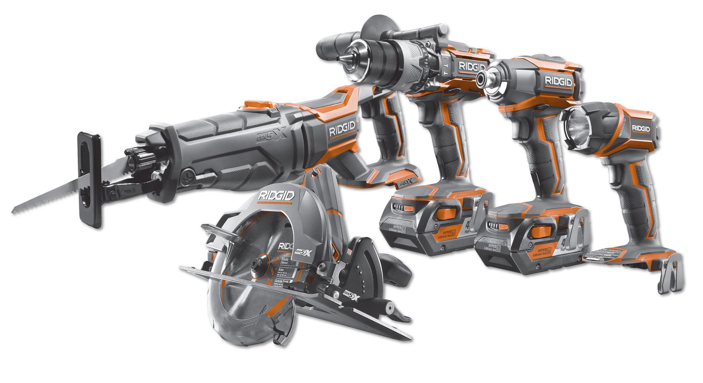 Ridgid Gen5x Combo Kit Tools Of The Trade Cordless Tools Coring
