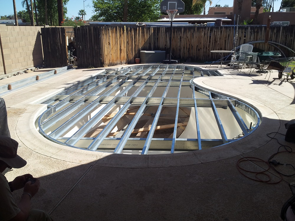 Pool retirement plans professional deck builder decks - Covering a swimming pool with decking ...