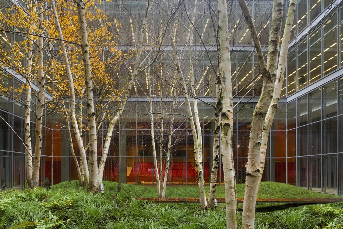 The New York Times Building Lobby Garden Architect Magazine