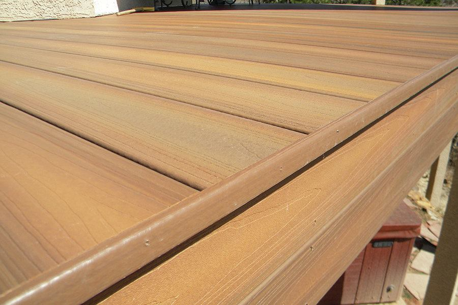 Edge detail for capped composite decking professional for What is capped composite decking