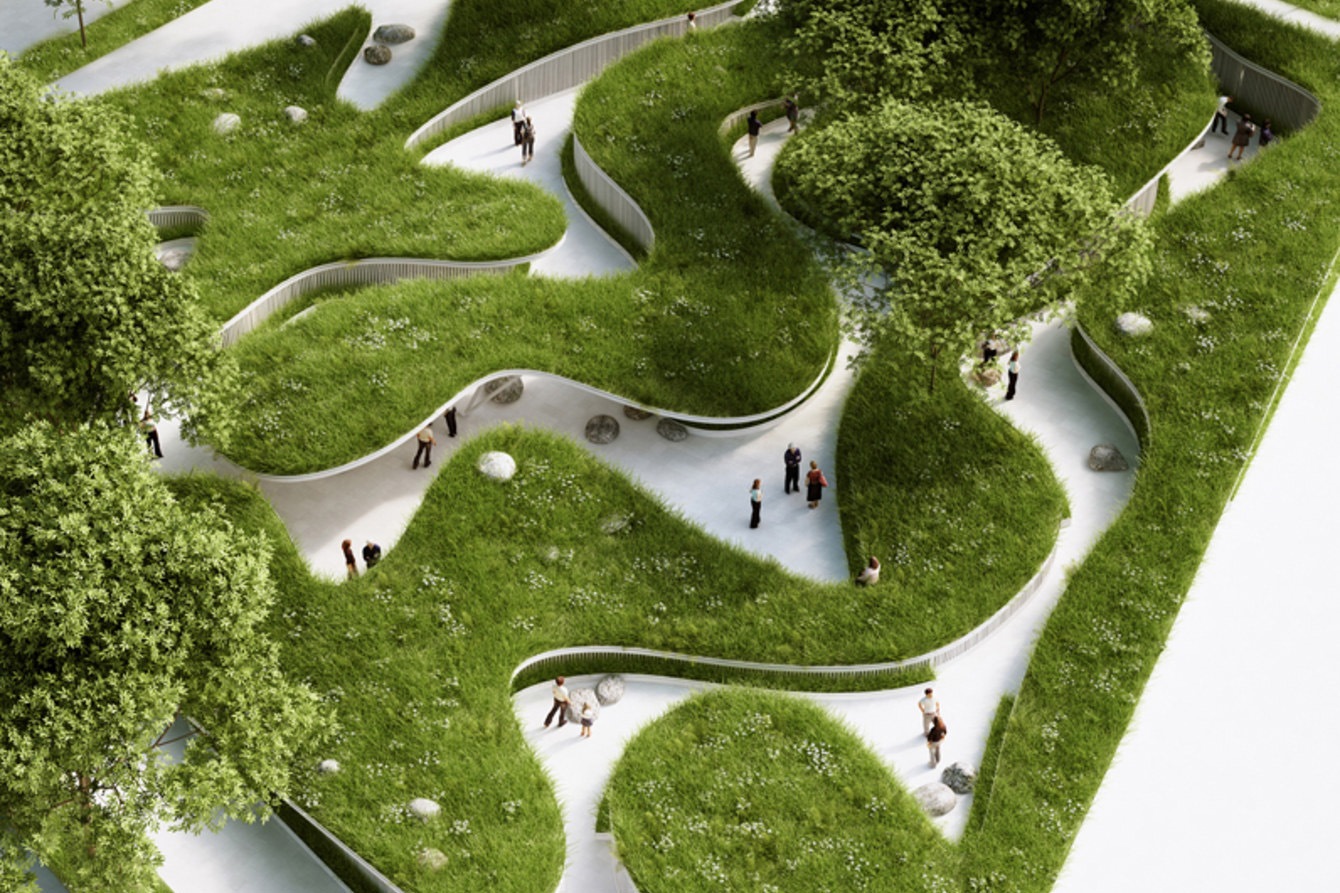 Landscaping project highlights global water crisis for Form garden architecture