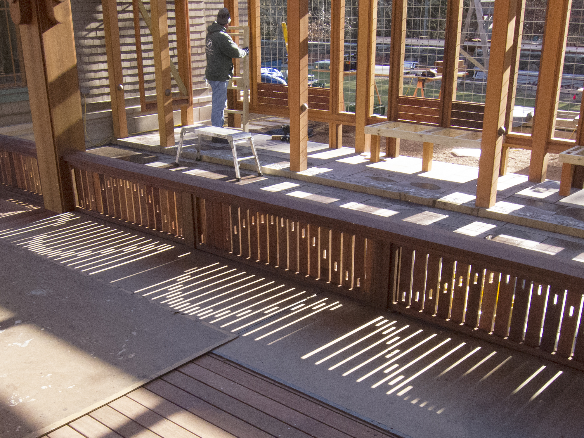 A Railing In Light And Shadow Jlc Online Fencing Decks
