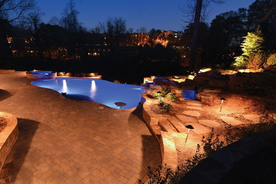 Georgia classic pool owners launch lighting business pool spa news lighting outdoor rooms pools swimming landscaping atlanta sandy