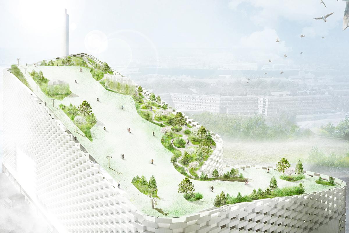 Sla Unveils Final Design For A Ski Rooftop Park Sitting