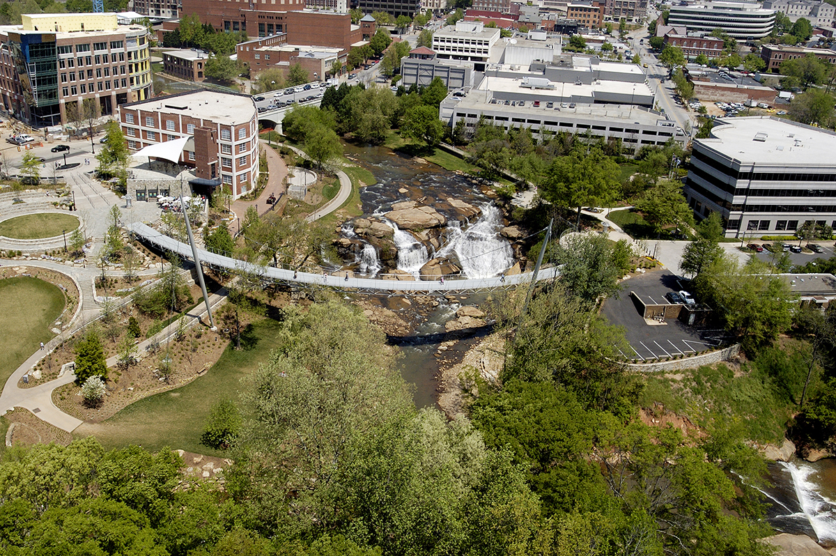 Falls park on the reedy architect magazine rosales for Architects greenville sc
