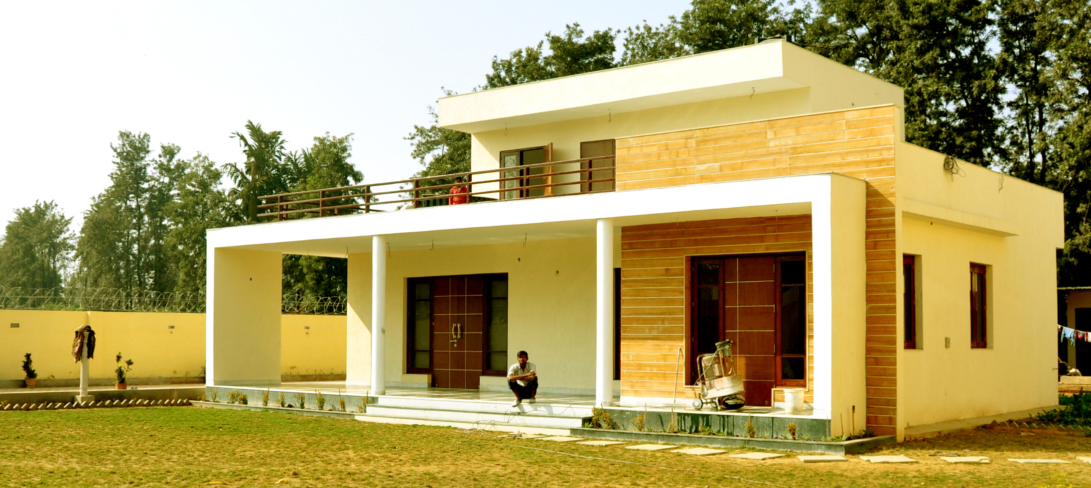 Chattarpur farm house south delhi architect magazine South indian style house plans with photos