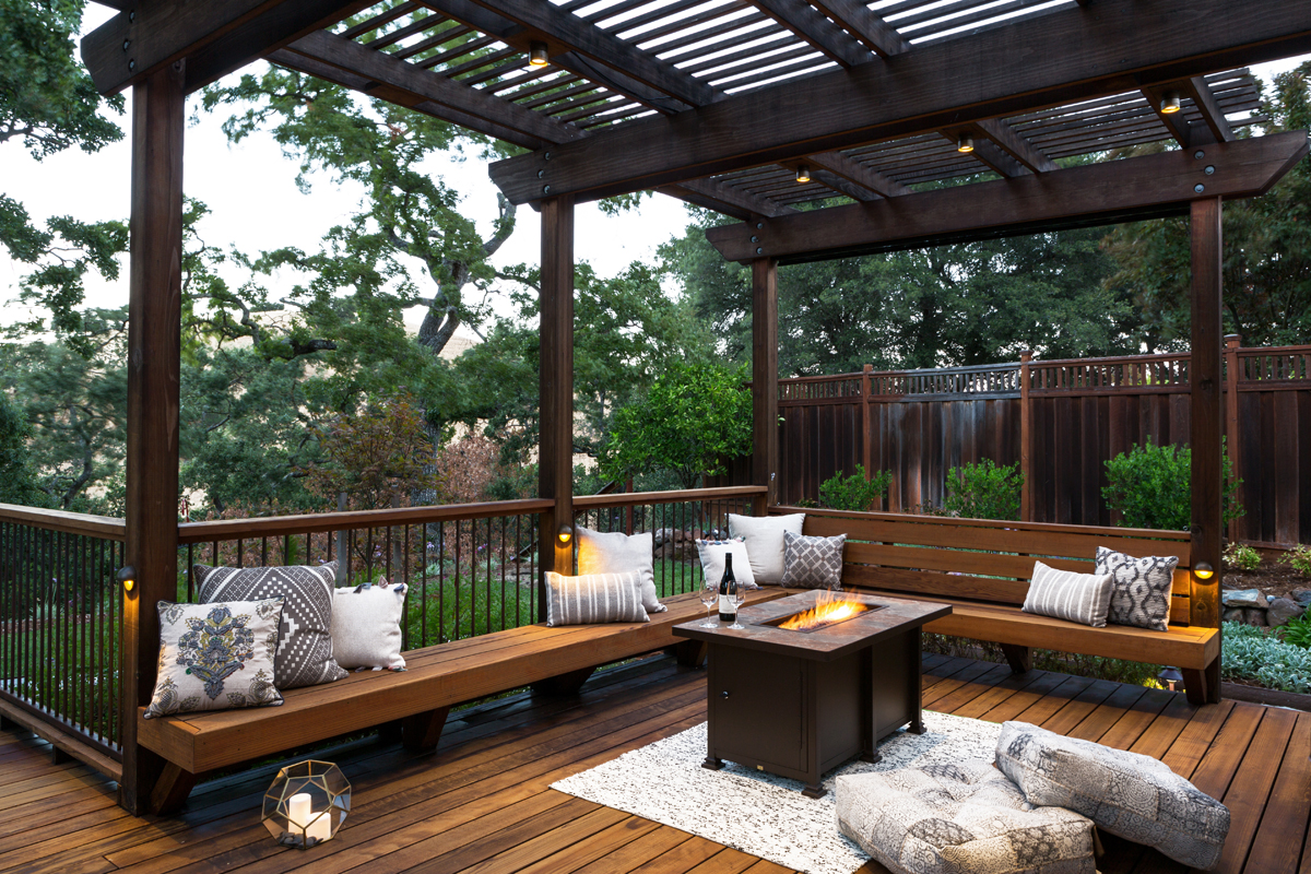 Deck and Patio Combination Creates Ideal Backyard ... on Patio With Deck Ideas id=44892