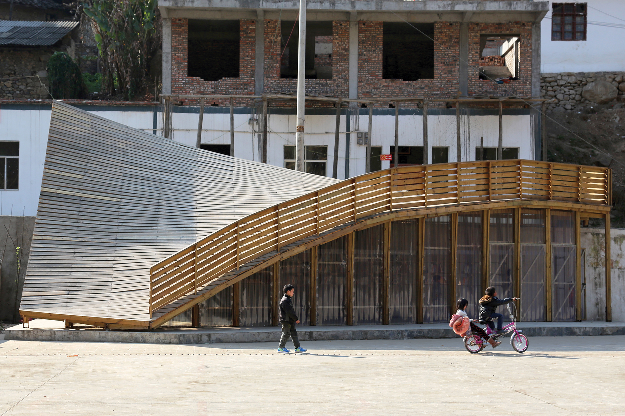 Innovative Detail The Pinch In Shuanghe Village Yunnan Province China Architect Magazine