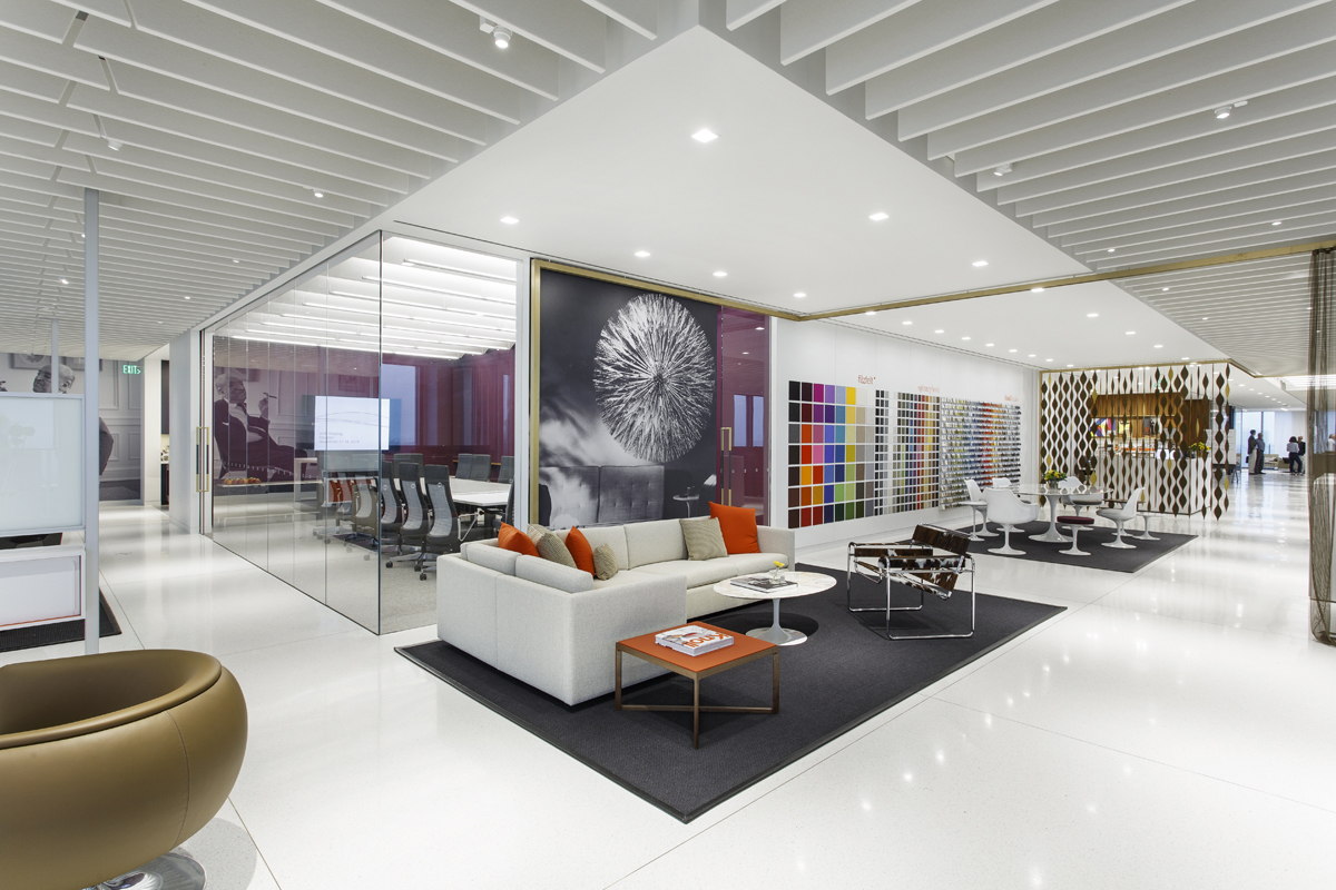 Knoll houston offices and showroom architect magazine architecture research office aro Architects and interior designers