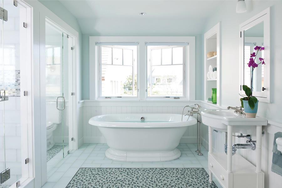 Sunny Bath In Cape Cod Mass Custom Home Magazine Bath Tile