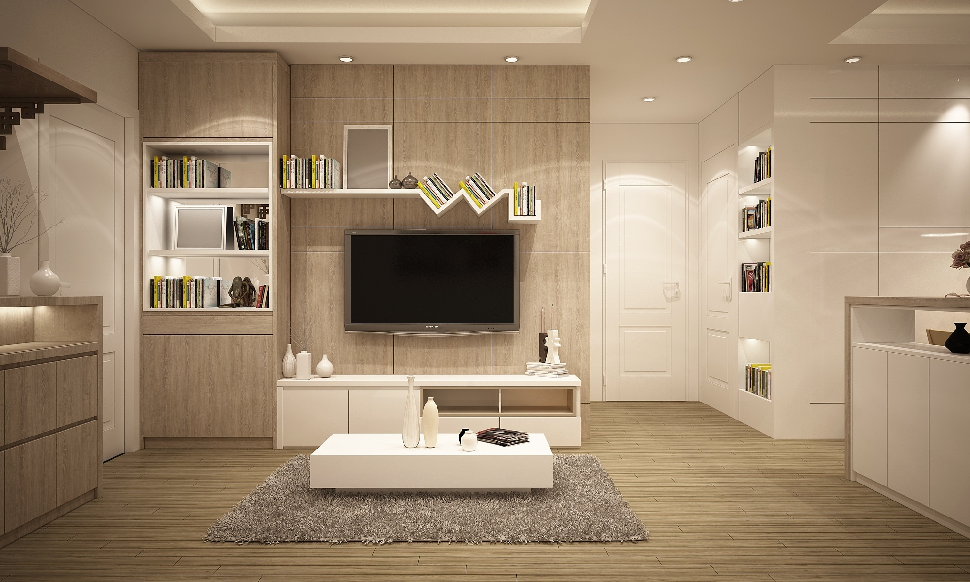 Creating space for every lifestyle storage in the for Decoration interieur design pas cher