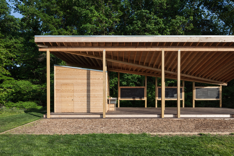 Teaching pavilion at the national arboretum architect for Pavilion cost per square foot