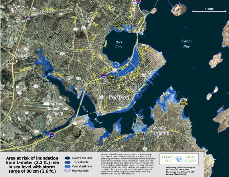 Risks Of Rising Seas Pondered In Portland Maine Jlc