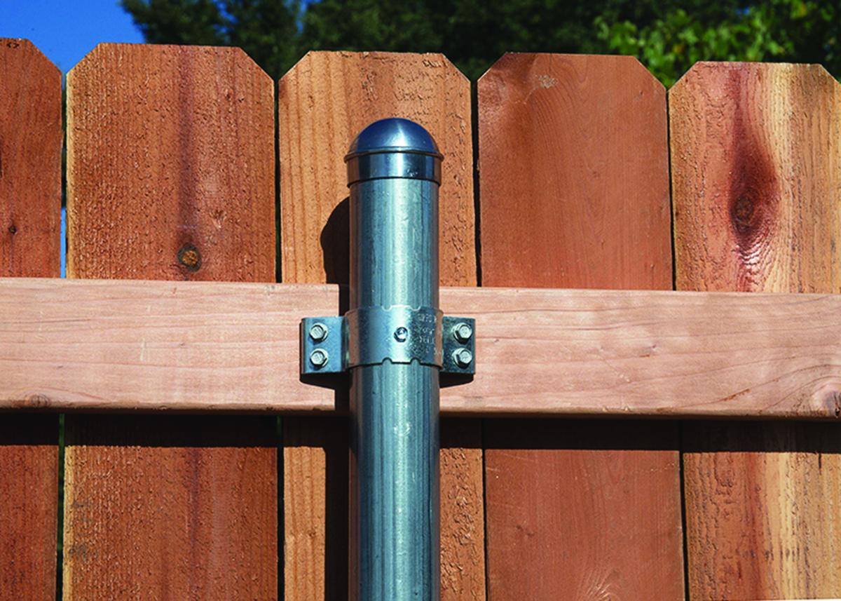 metal fence post bracket professional deck builder. Black Bedroom Furniture Sets. Home Design Ideas