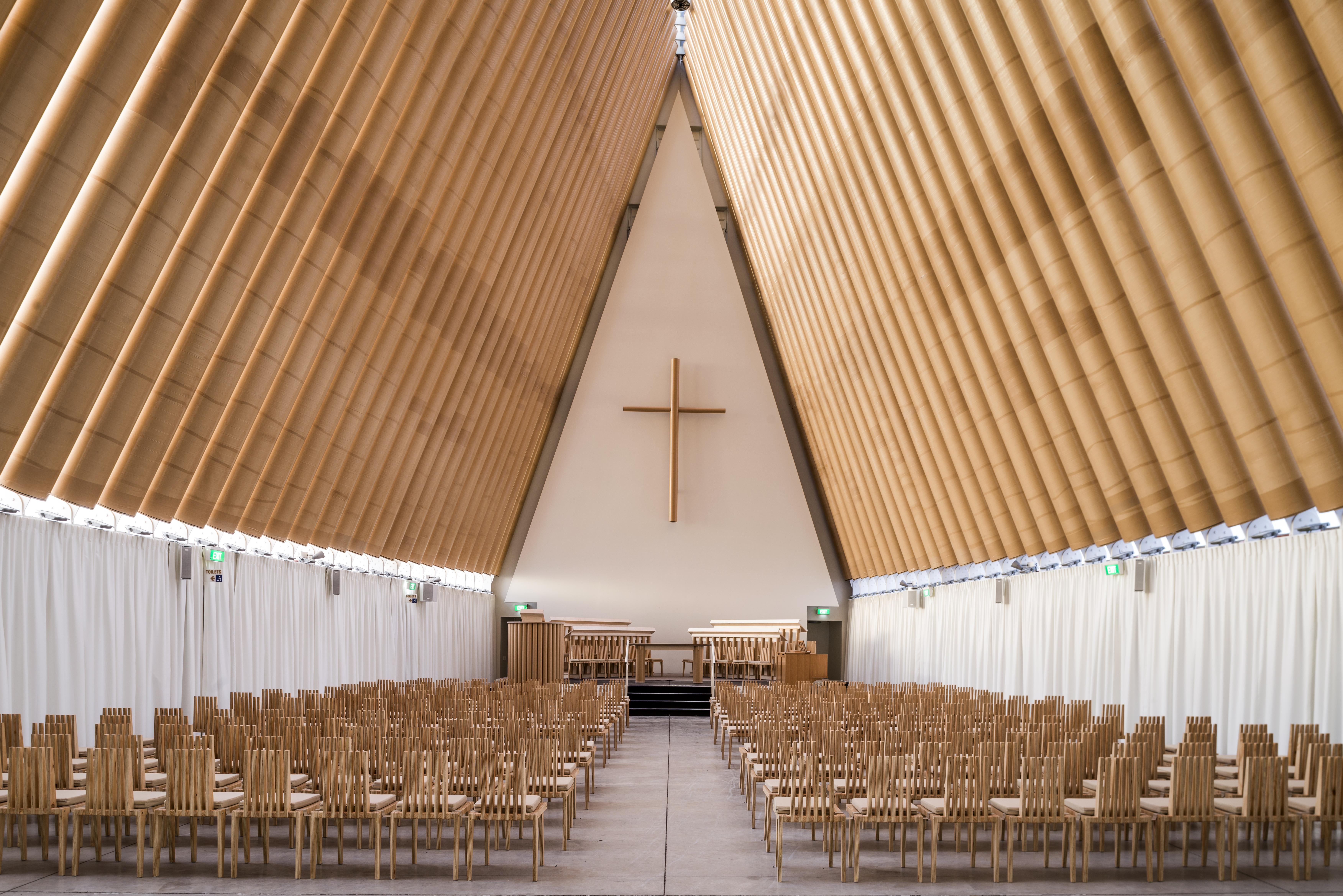 cardboard cathedral architect magazine shigeru ban architects christchurch new zealand. Black Bedroom Furniture Sets. Home Design Ideas