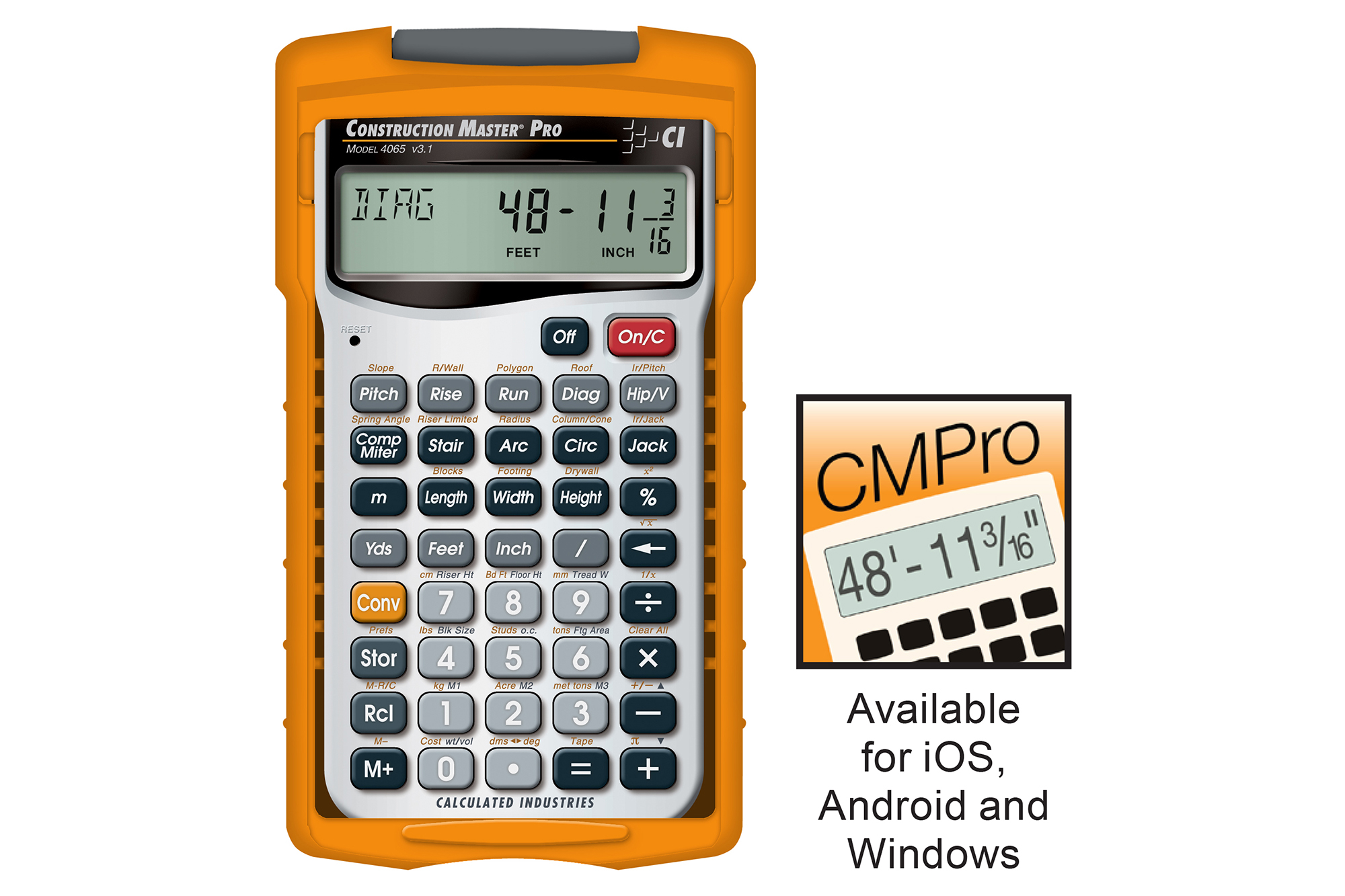 construction master pro advanced construction math calculator for