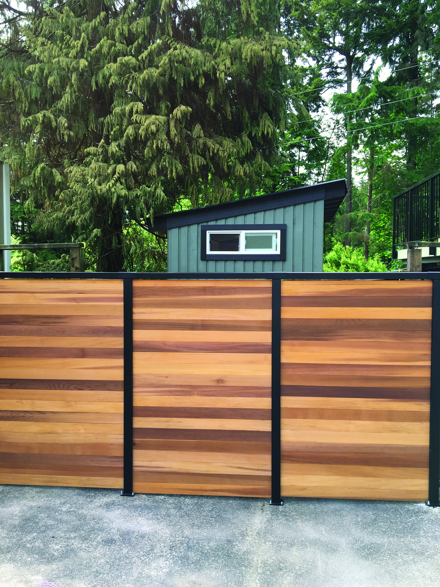 China Aluminum Solid Powder Coated Black Infilled Wall Panels Garden Privacy Decorative Modular Slat Fence China Aluminum Fence And Privacy Fence Price