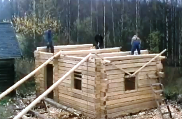 Finnish carpenters build a traditional log house tools for Tools to build a house
