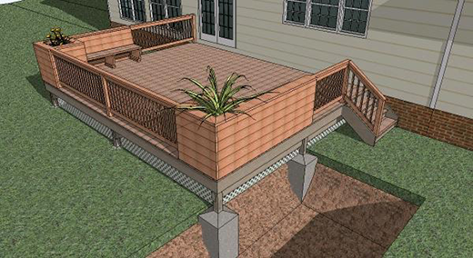 Cost vs value project deck addition composite remodeling for Portico cost estimate