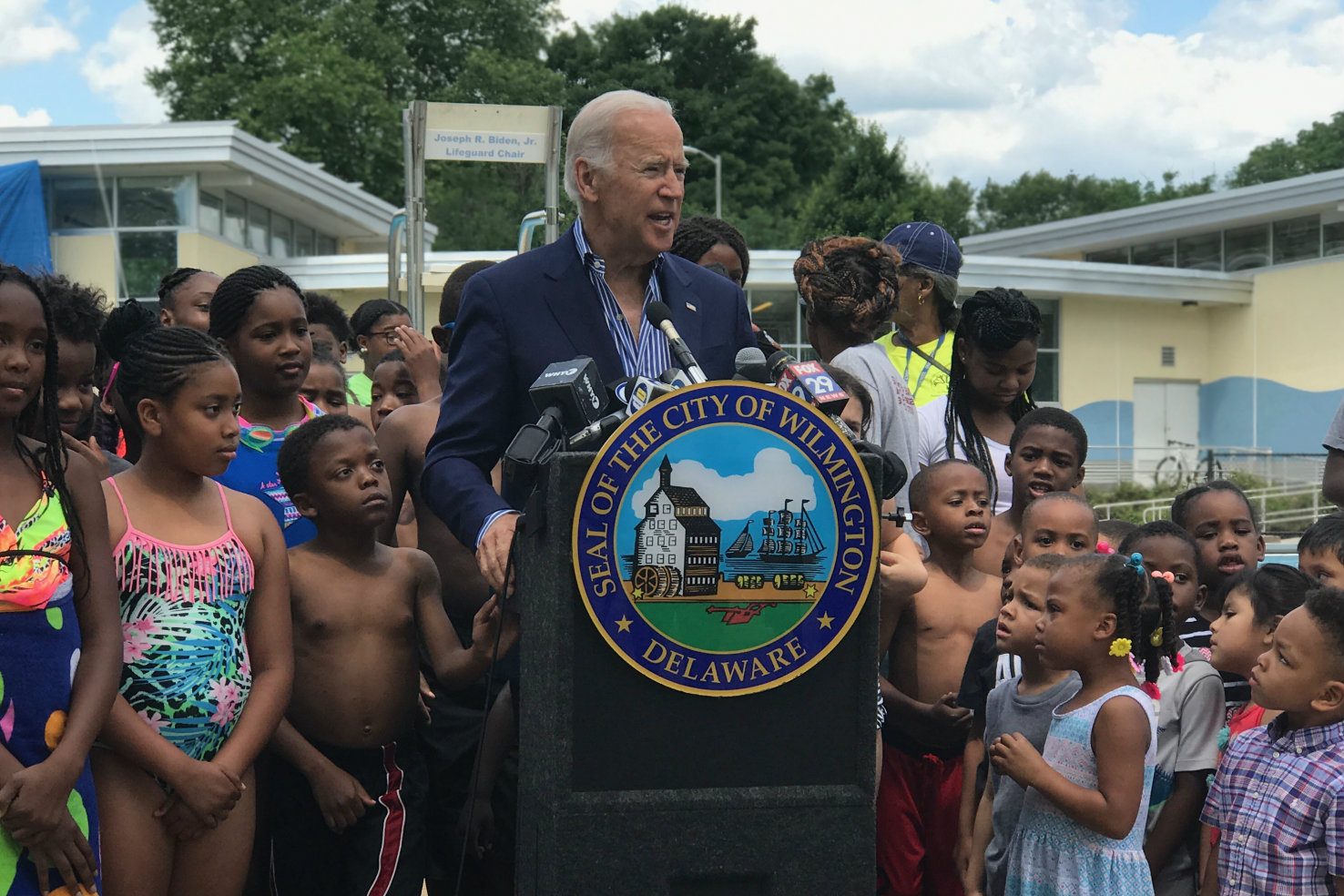 Image result for joe biden pool